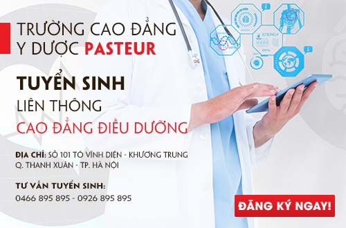 Trường Cao đẳng Y Dược Pasteur tuyển sinh liên thông Cao đẳng Điều dưỡng năm 2017