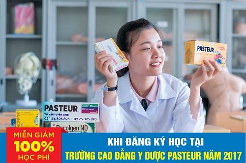 Trường Cao đẳng Y Dược Pasteur miễn 100% học phí năm 2017