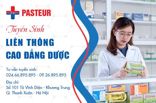 Trường Cao đẳng Y Dược Pasteur đào tạo liên thông Cao đẳng Dược uy tín chất lượng