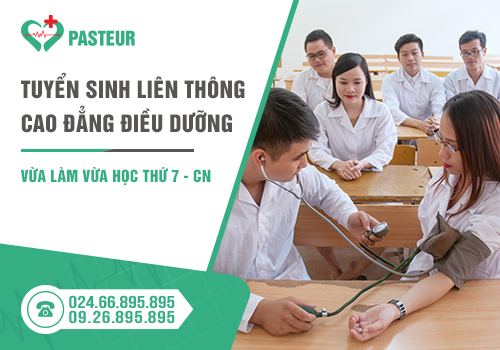 Trường Cao đẳng Y Dược Pasteur đào tạo liên thông cao đẳng Điều dưỡng vào thứ 7 - CN