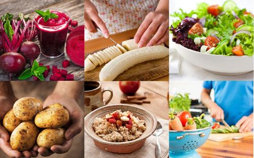 Những thức ăn tươi xanh và nhiều rau củ rất tốt cho sức khỏe người già