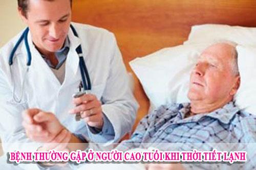 Bệnh thường gặp ở người cao tuổi khi thời tiết lạnh