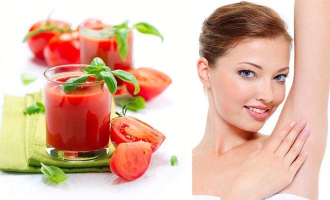 Đánh bay mùi hôi nách bằng nước ép cà chua